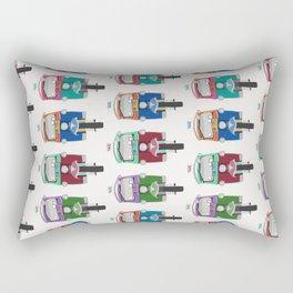 Thailand Tuk Tuks in a Row Pattern Rectangular Pillow