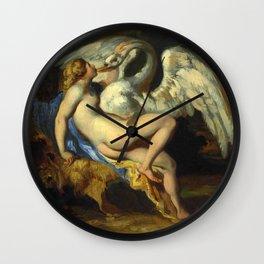 """Théodore Géricault """"Léda et le cygne ('Leda and the Swan')"""" Wall Clock"""