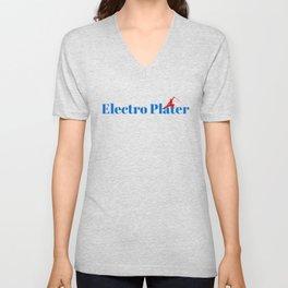 Electro Plater Ninja in Action Unisex V-Neck