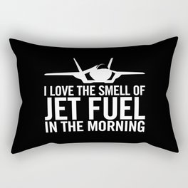 "F-35 Lightning II ""I love the smell of jet fuel in the morning"" Rectangular Pillow"