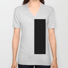 WHITE BLACK Unisex V-Neck