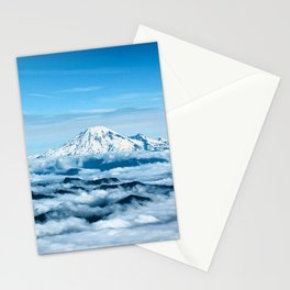 Mount Rainier Above the Clouds Stationery Cards