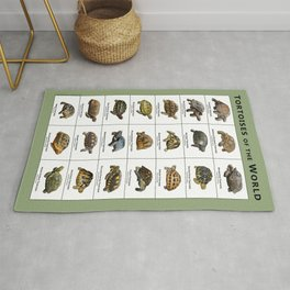 Tortoises of the World Rug