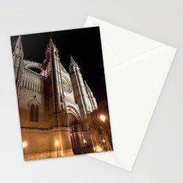 La Seu at night - Mallorca Stationery Cards