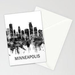 Minneapolis Minnesota Skyline BW Stationery Cards
