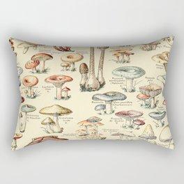 Trippy Vintage Mushroom Chart // Champignons by Adolphe Millot XL 19th Century Science Artwork Rectangular Pillow