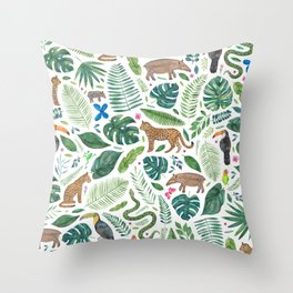 Jungle/Tropical Pattern Throw Pillow