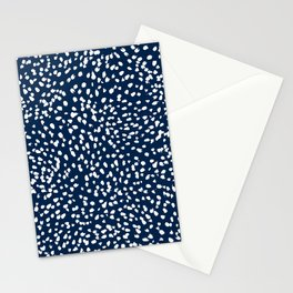Sloane Navy dots - navy spots painterly navy dots pillow decor Stationery Cards