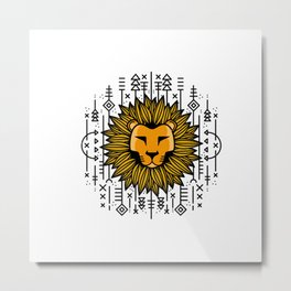 Lion, The King of Africa | Kids clothes Metal Print
