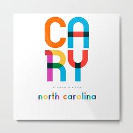 Cary North Carolina Mid Century, Pop Art, Mondrian Metal Print