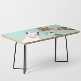 Bubble Gum Gang in Green Coffee Table