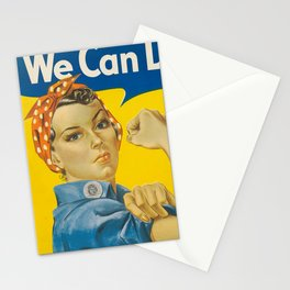 We Can Do It!, 1942 by J. Howard Miller Stationery Cards
