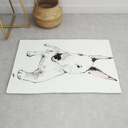 A Bull Terrier Puppy Rug