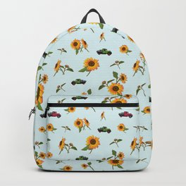 Sunflowers and Truck Backpack