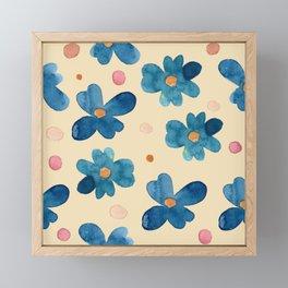 With Love- Flower Dot Pattern Framed Mini Art Print