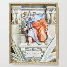 """Michelangelo Buonarroti  """"Prophet Ezekiel"""" Serving Tray"""