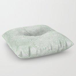 Mandala, Yoga Love, Sage Green, Boho Print Floor Pillow