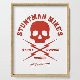 Mod.3 Death Proof Stuntman Mike Car Skull Tarantino Retro Vintage Movie Driving School Camiseta T-Shirt Serving Tray