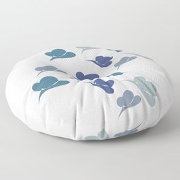 Abstract butterfly Floor Pillow