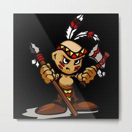 Angry Baby Indian Metal Print