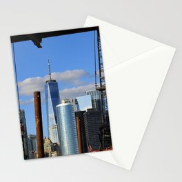 World Trade Center from ferry landing Stationery Cards