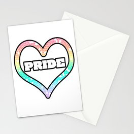 Pastel Pride Heart Mosaic Graphic Design  Stationery Cards