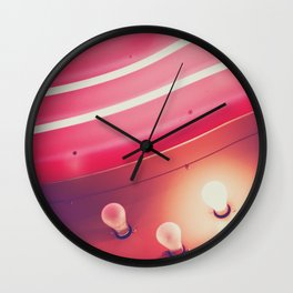 Pink Neon Glow Wall Clock