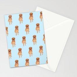 Golden retriever mask option 2 Stationery Cards