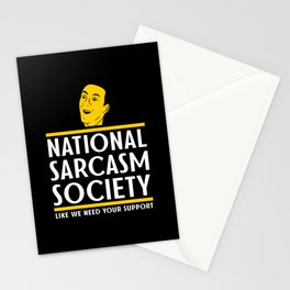 National Sarcasm Society - Funny Wordplay Punny Meme Illustration Stationery Cards