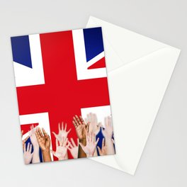 BRITISH FLAG WITH PEOPLE OF ALL COLOR Stationery Cards