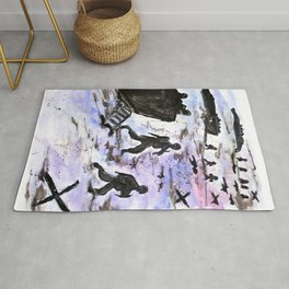 Stepping In Harms Way Rug