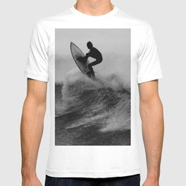Surf black white T-shirt