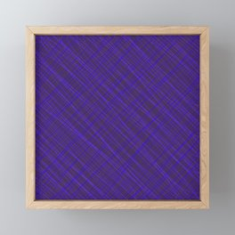 Royal ornament of their violet threads and luminous intersecting fibers. Framed Mini Art Print