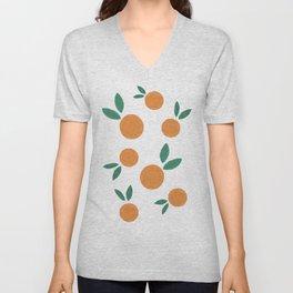 Minimalist Oranges Unisex V-Neck