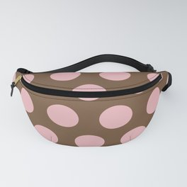 Mid Century Modern Polka Dots 553 Brown and Pink Fanny Pack