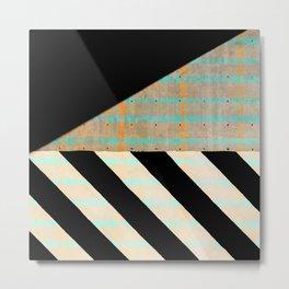 retro minimal geometric glow Metal Print