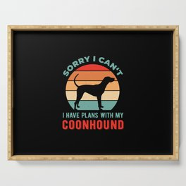 Funny Coonhound Serving Tray