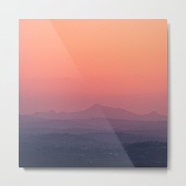 Sunset over Mount Coot-tha Metal Print