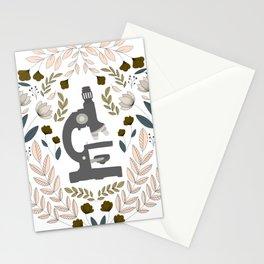 Gray Folk Microscope Stationery Cards