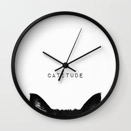 cat - catitude Wall Clock