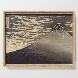 Hokusai's Mount Fuji Remix Serving Tray