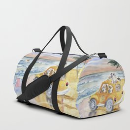 Dogs Family at the beach Duffle Bag