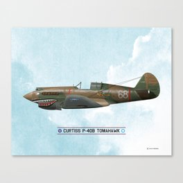 P-40 Tomahawk - WW2 Canvas Print