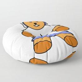 TEDDY BEAR LOVE MUSIC Floor Pillow