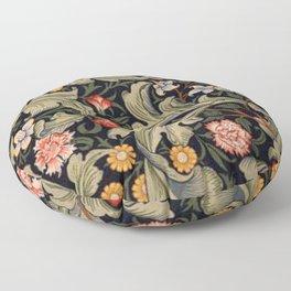 William Morris Laurel Multi-Colored Floral Textile Pattern Sunflower, Aster, Dahlia Floor Pillow