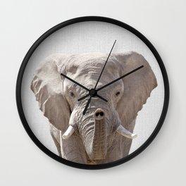 Elephant - Colorful Wall Clock