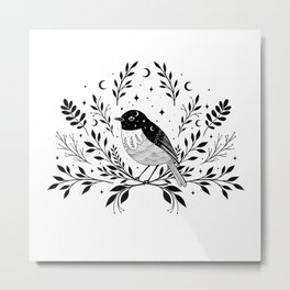 A Bird with Seven Moons Metal Print
