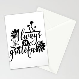Always be Grateful Floral Thanksgiving Stationery Cards