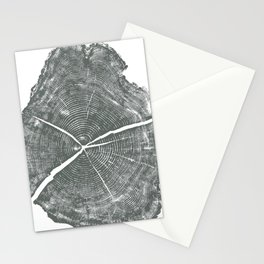 Locust Tree ring image, woodcut print Stationery Cards