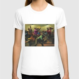 'Jazz on a High Night' African American Harlem Masterpiece by Robert Riggs T-shirt